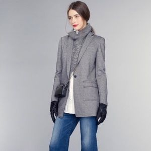 Banana Republic Wool Blend Gray Knit Blazer